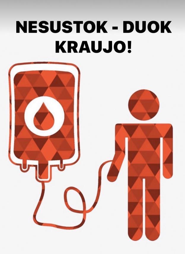 Naujausia informacija donorams dėl ekstremalios situacijos ir koronaviruso