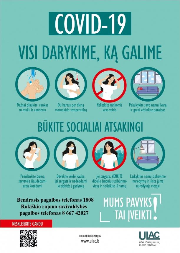 Priminimas – būkime socialiai atsakingi!