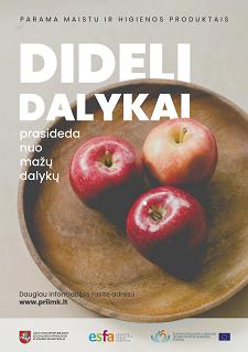 """Informacija apie projektą  """"Parama maisto produktais ir higienos prekėmis"""" Nr. EPSF-2018-06-V-01  ir šios paramos dalinimą Rokiškio rajono savivaldybėje"""
