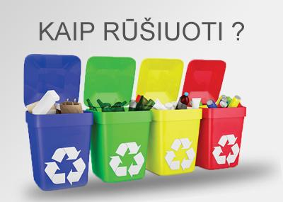 Rekomendacijos atliekų rūšiavimui