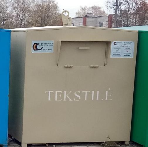 Tekstilės ir augalinės kilmės maisto atliekų surinkimas