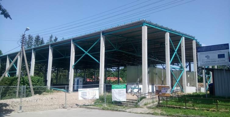 Stoginės ledo ritulio aikštelei Rokiškio mieste įrengimas