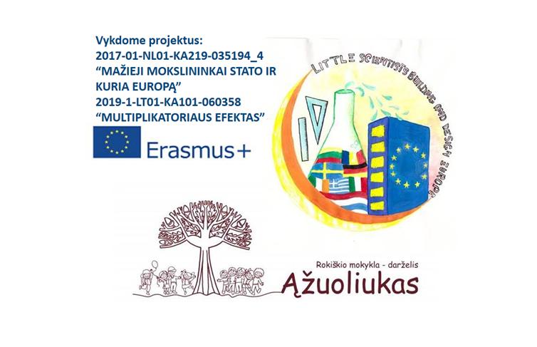"""Mažieji mokslininkai kuria ir stato Europą"""", Erasmus plus"""
