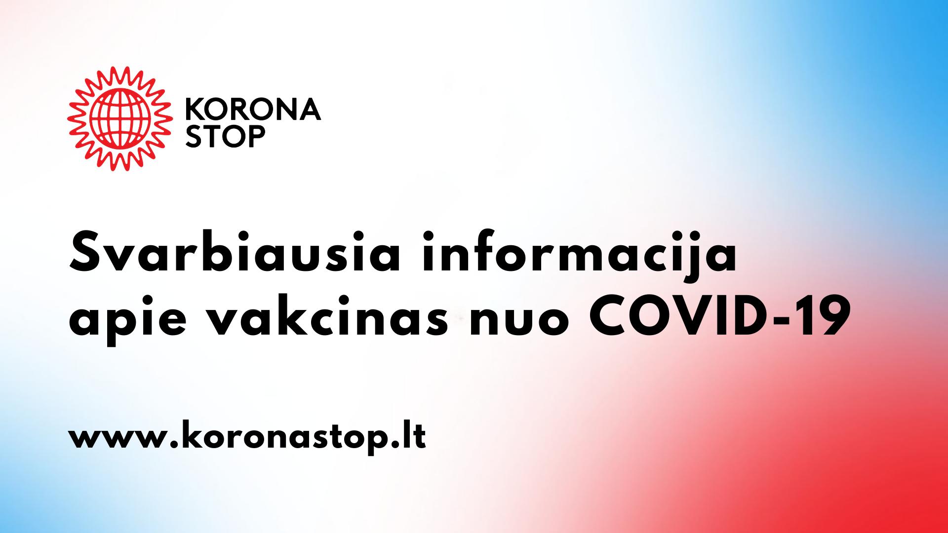 Gyventojų vakcinavimas nuo COVID-19 ligos