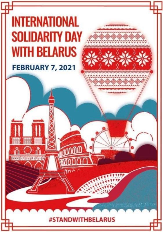 Susigiminiavusių miestų solidarumo su Baltarusijos žmonėmis akcija
