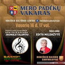Kviečiame Rokiškio rajono savivaldybės mero padėkų vakarą stebėti internetu