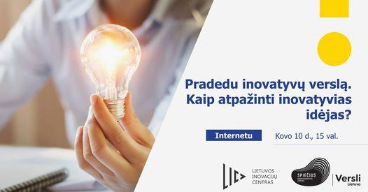 Pradedu inovatyvų verslą