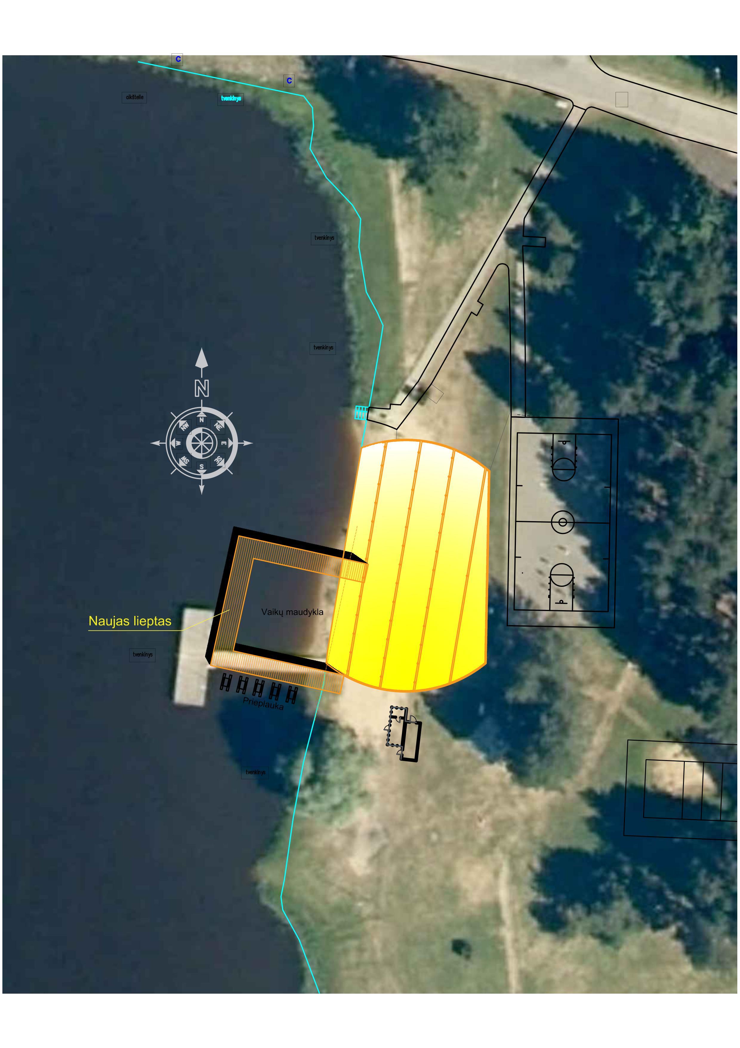 Rokiškio ežero pakrantėje – naujas tiltas