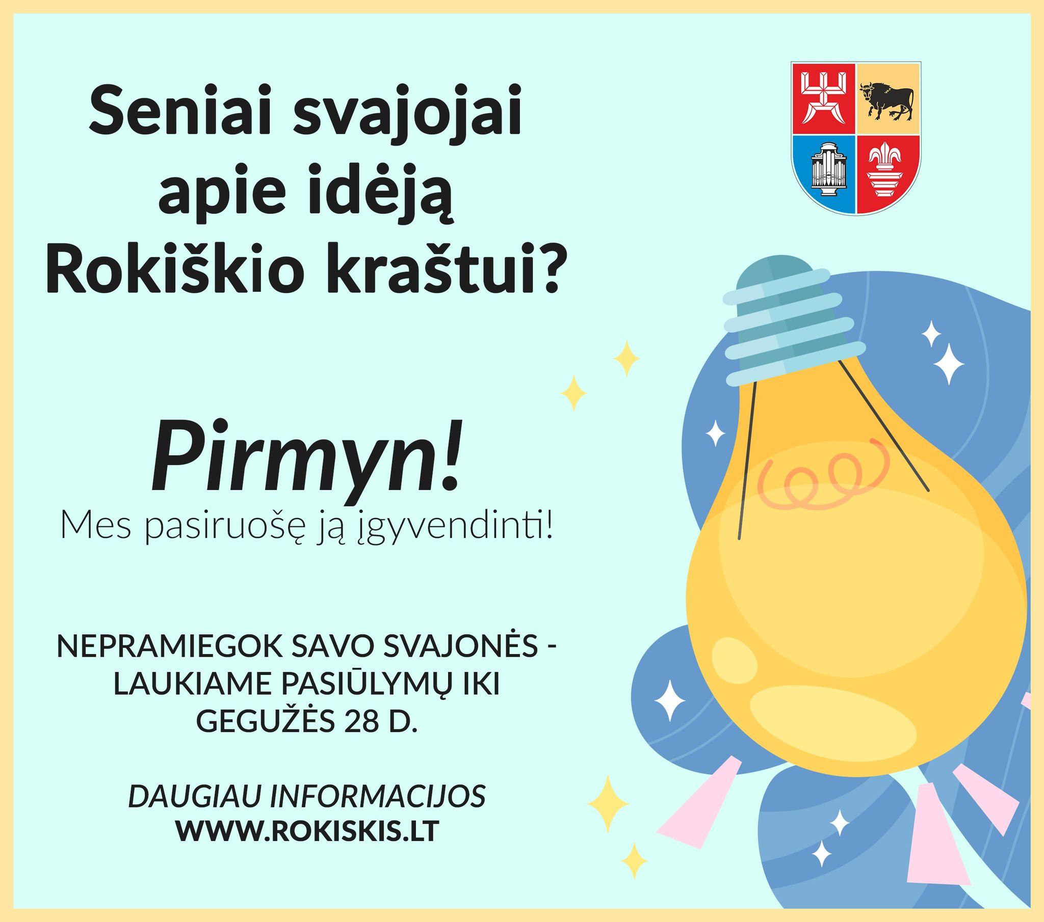 Netrukus Rokiškyje – gyventojų idėjų maratonas!