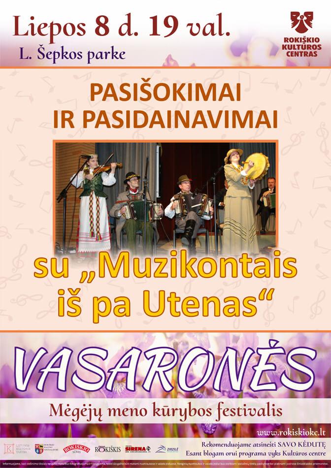 """VASARONĖS, Pasišokimai ir pasidainavimai su """"Muzikontais iš pa Udenas"""""""