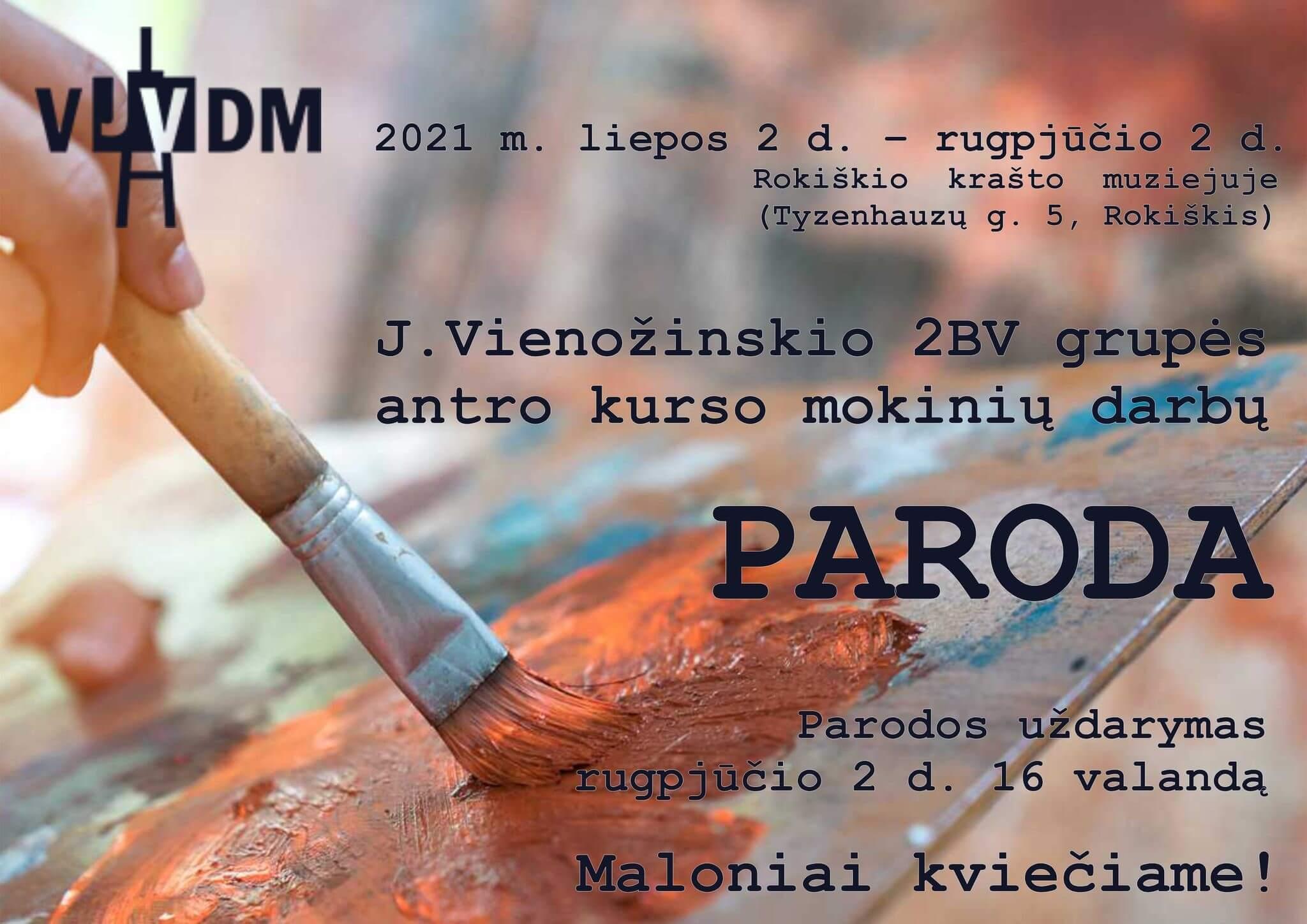 J. Vienožinskio 2BV grupės antro kurso mokinių darbų paroda