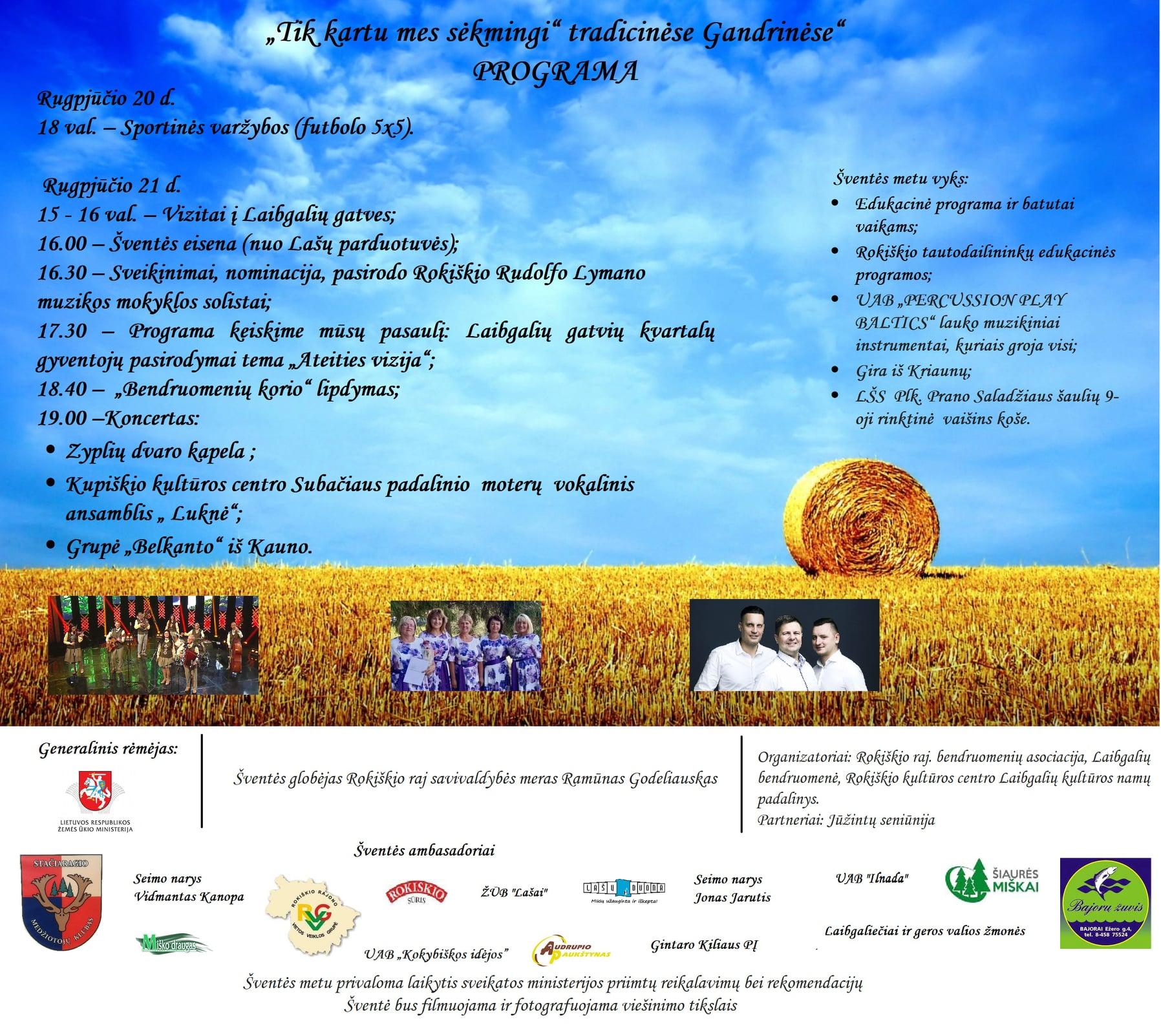 Rajono bendruomenių sąskrydis rudeninės Gandrinėse