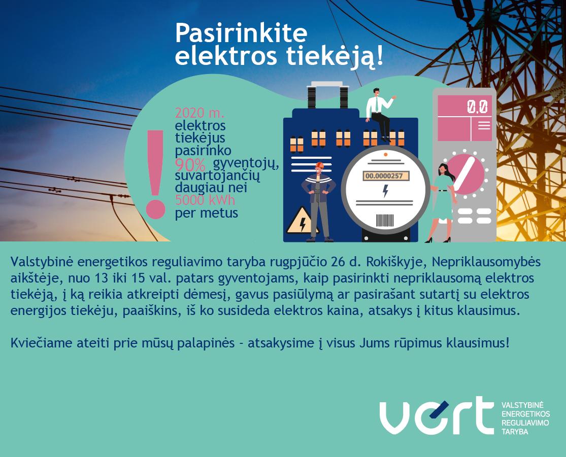 Pasirinkite elektros tiekėją!